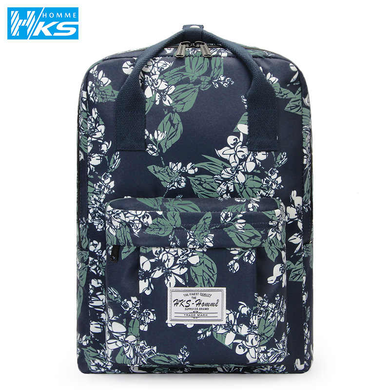Laptop Backpack 14 15.6 inch Women Men School Bags For Teenage Girls boys College Style Travel Backpack Canvas Waterproof