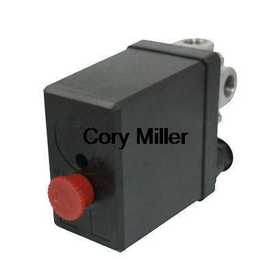 NC NO AC 240V 20A 4 Port Air Compressor Pressure Switch 175 PSI 12 Bar high quality 1pc heavy duty air compressor pressure switch control valve 90 psi 120 psi air compressor switch control