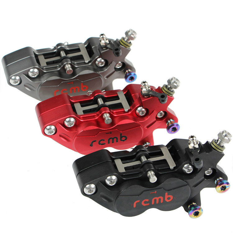 Keoghs Motorcycle Parts Brake Caliper 40mm 4 Piston Cnc Aluminum For Motorbike Scooter Yamaha Kawasaki Suzuki Honda Modify keoghs motorbike rear brake caliper bracket adapter for 220 260mm brake disc for yamaha scooter dirt bike modify