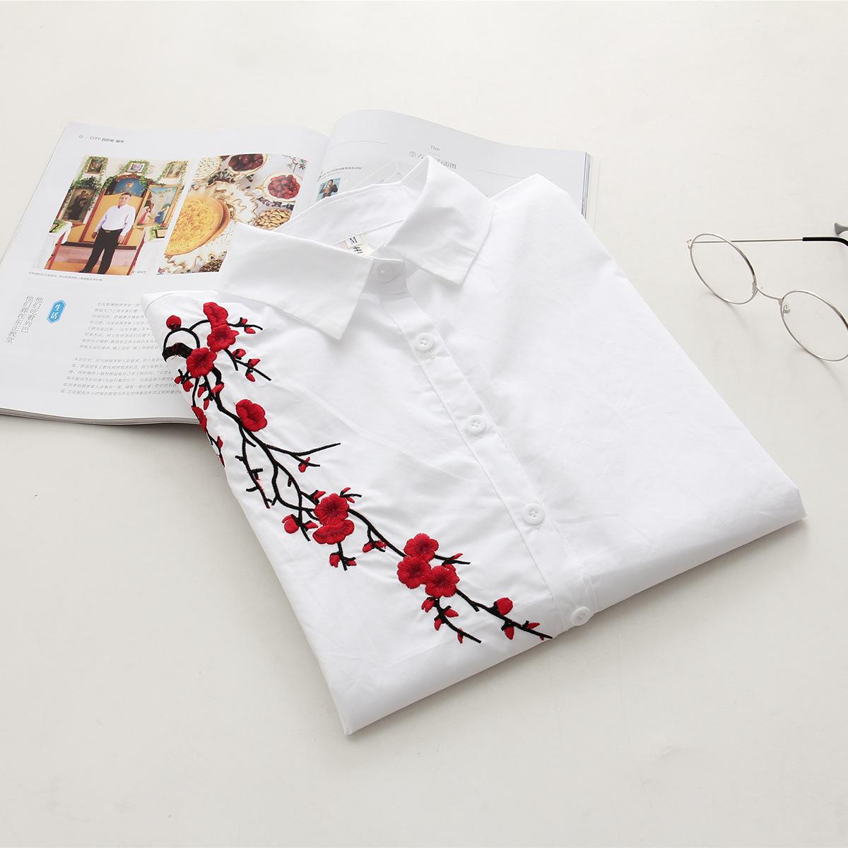 online get cheap blanc chemise rouge fleurs -aliexpress