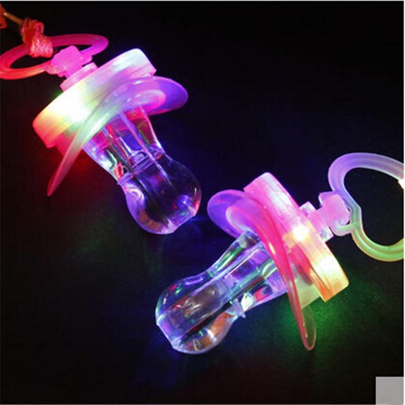 Doprava zdarma 15ks / lot LED bliká Baby Party dodávky Legrační hračka rozsvítí Pacifier píšťalka přežití nástroj blikající dítě hračka