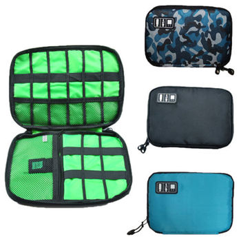 Electronics Travel Organizer Bag For Cord SD Card USB Cable