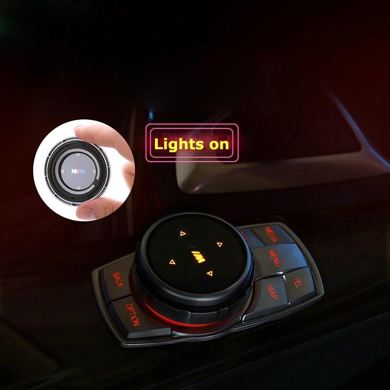 IDrive Car Multimedia Buttons Cover M Emblem Stickers For BMW E36 E38 E39 E46 E52 E53