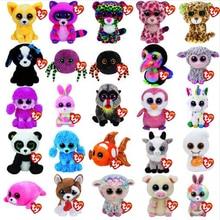 Ty плюшевый игрушечный животное Единорог Собака Сова Слон Фламинго детские игрушки 15 см