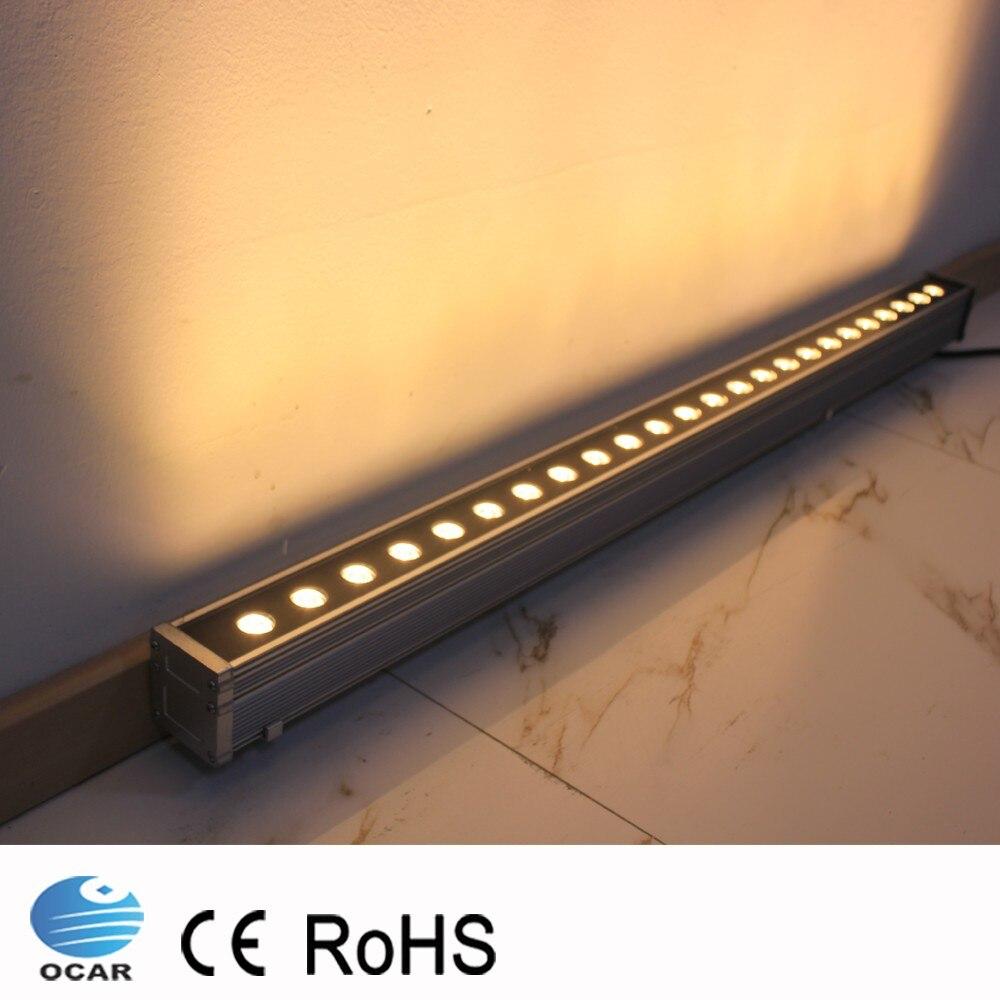 9W 18W 0.5m 1m LED Wall Washer Landscape light AC 24V AC 85V 265V outdoor lights wall linear lamp floodlight 100cm wallwasher