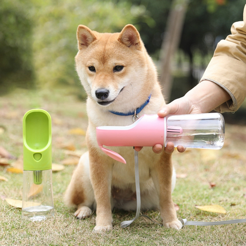 Portable Pet Dog Water Bottle Travel Puppy Cat Drink Bowl Outdoor Outside Pet Water Squeeze Dispenser Feeder 400ML