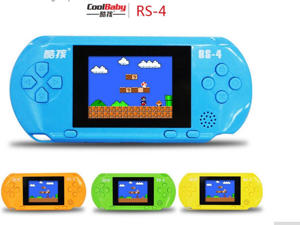 HOt handheld games RS-4 color screen Built 300 classic games 2.5 inch Handheld Game Consoles free shipping