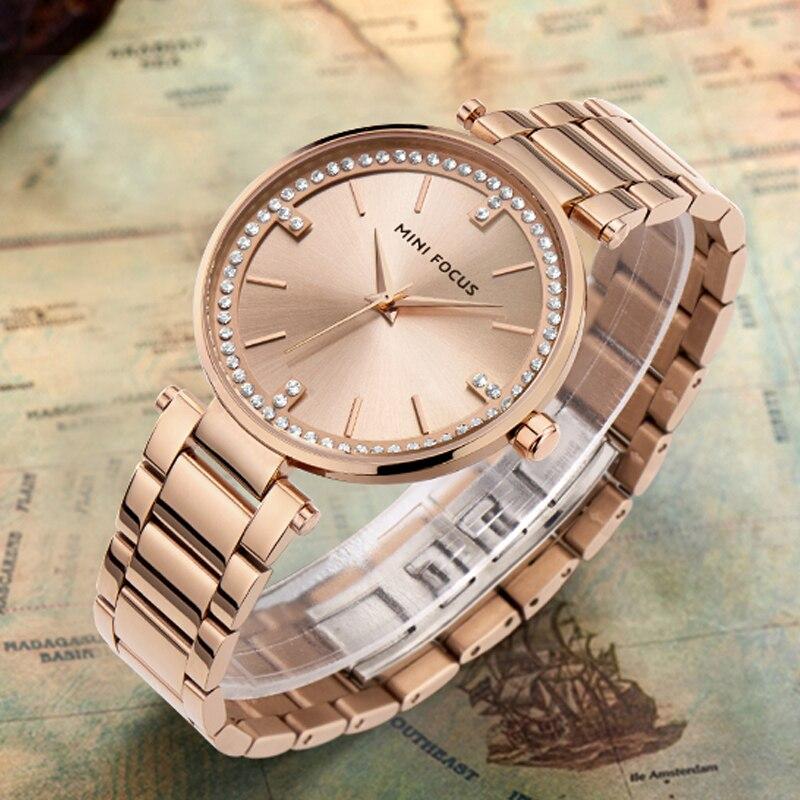 Gold Women Watch Stainless Steel Strap Luxury Brand Ladies Watch Creative Girl Quartz Wristwatch Clock Montre Relogio Feminino