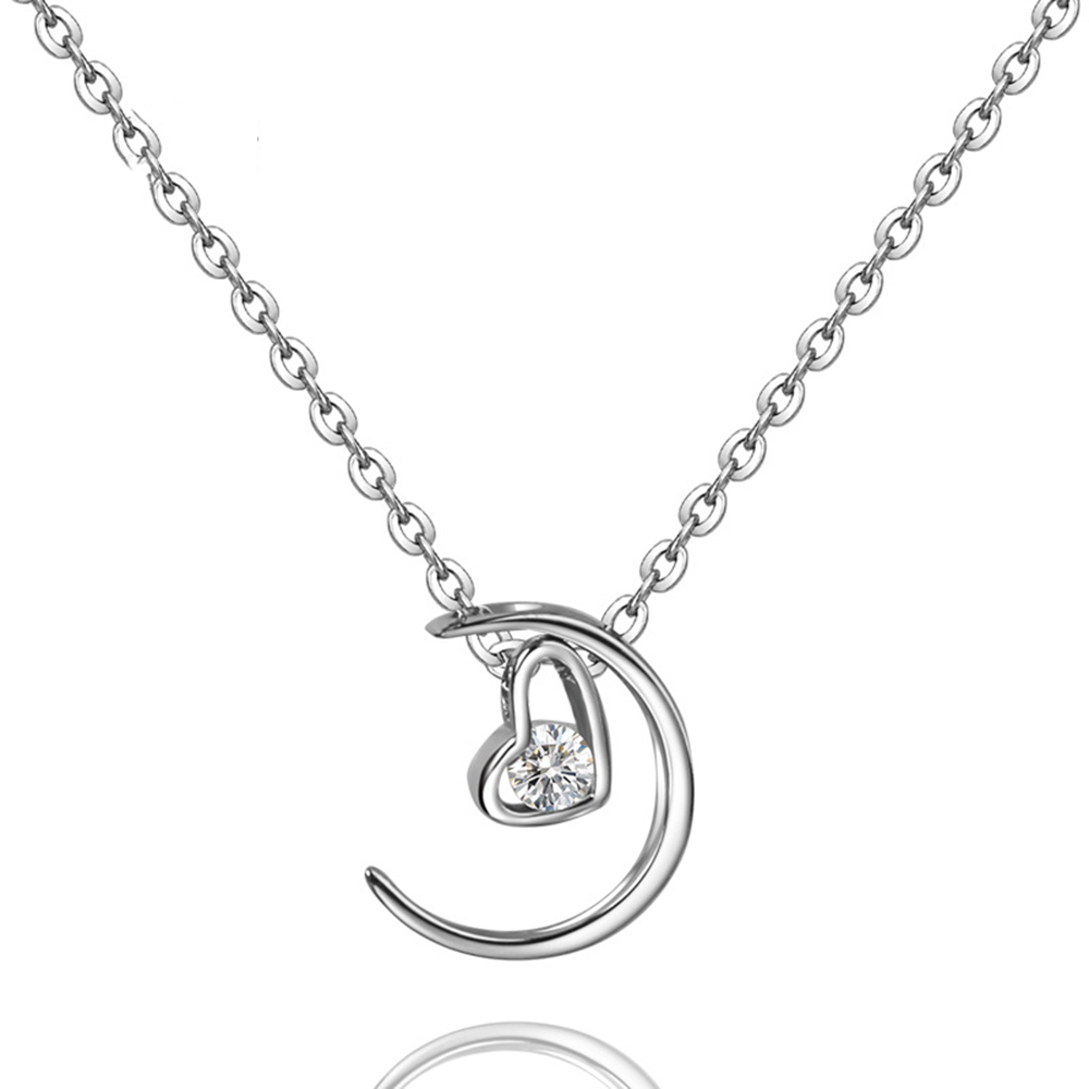 Hot Sale 925 Sterling Silver Pendants Necklaces The Moon