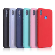 Candy Color Case for Huawei P Smart Plus Nova 3i Soft Full Cover For Huawei P Smart 2019 Nova 4 4E 3 3E 2S 2 Plus Lite Cases for huawei nova 3 3e 2s 2 p9 plus sport smart wristband heart rate fitness tracker huawei band 3e screen protector films