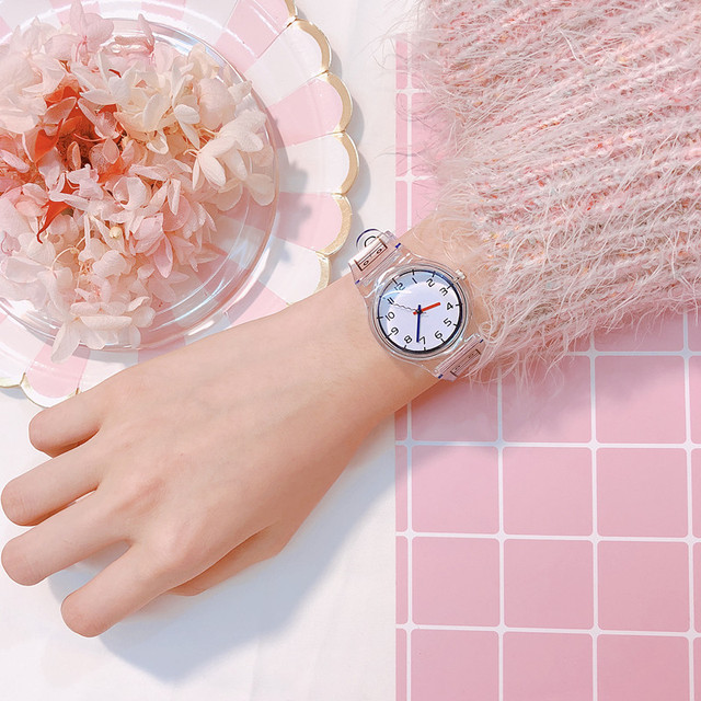Top Brand Luxury Transparent Women Bracelet Watches Fashion Women Dress Wristwat