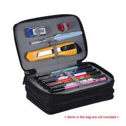 72 suportes 4 camadas zíper multifuncional prático escola lápis caso grande capacidade colorido saco de lápis para material da arte do estudante