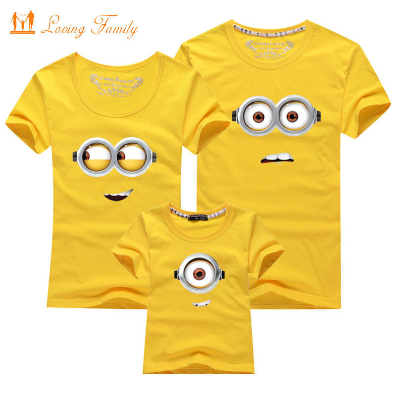 1 Piece Family Look T-shirt 13 Colors Clothes For 2020 Summer Matching Family Clothes Mother Father Daughter Son Top Clothing