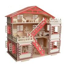Деревянный DIY Кукольный Миниатюрный игрушечная мебель для куклы собранные куклы дом ролевые игры головоломки игрушечные лошадки детей обувь девоче