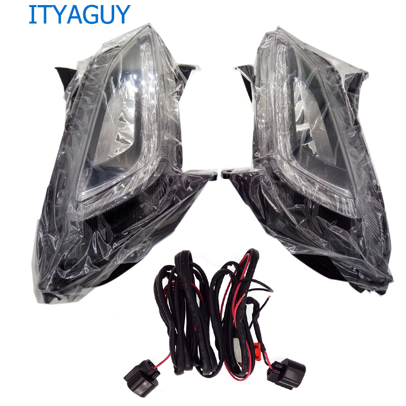 2ps/set LED fog light daytime running light headlight FOR HYUNDAI Tucson 2015 2016~2017 fog light solaris 2012 2015 d50 daytime light jazz free ship led d50 fog light 2ps set teana sylphy r50