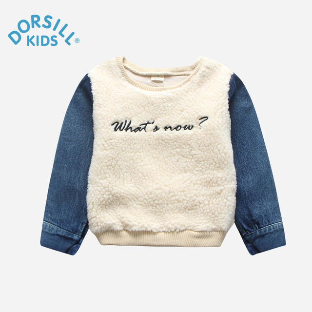Dorsill Kids Clothing New Autumn and Winter Fashion O-Neck Letter Boys Tees warm and comfortable Girls T-shirts.