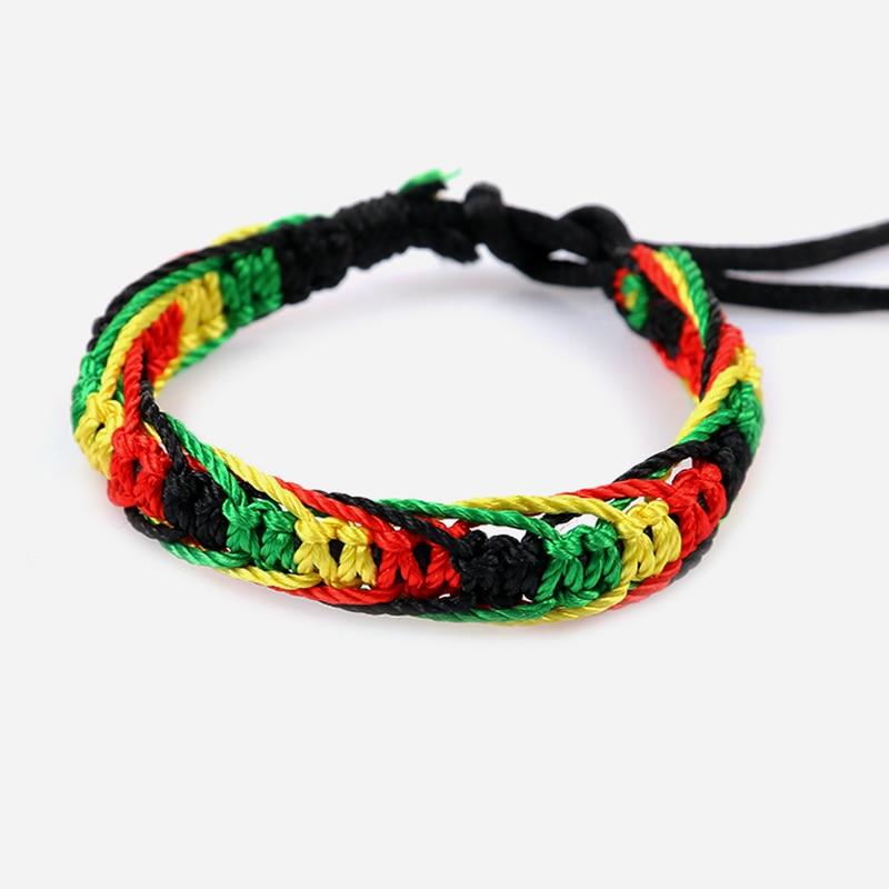 Cheap brazilian bracelet multicolor braided boho chain bohemian tassel handmade sport chain friendship bracelets neon unisex 1