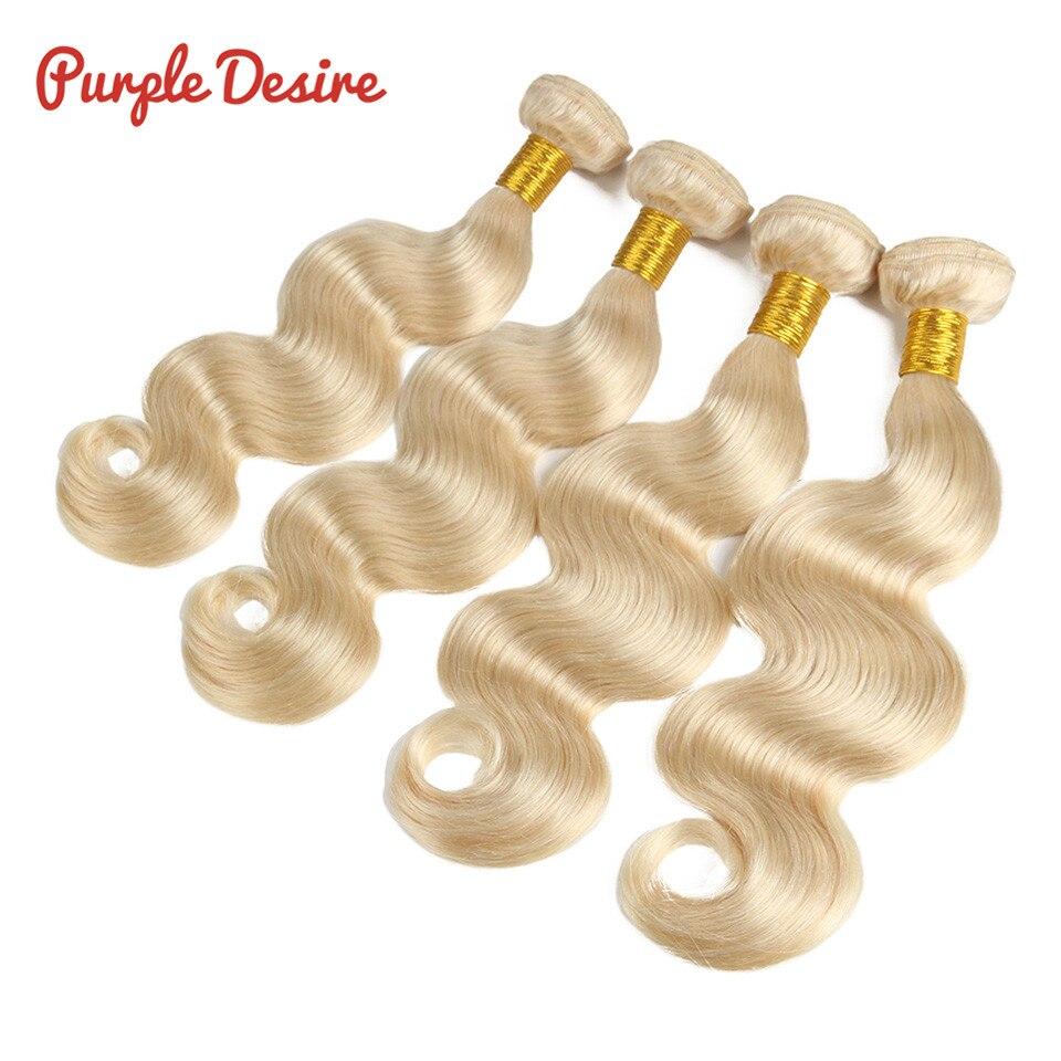 Blonde Body Wave Hair 613 Bundles Brazilian Human Hair Weave Bundles 3 4 pcs lot Remy