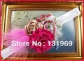Floral Headband Baby Girl Toddler Shabby  Hair Flower Bow Satin Tulle Rose Pearl Feather SB1