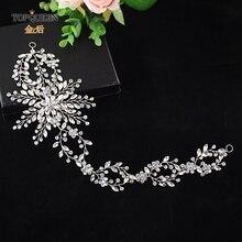 TOPQUEEN HP242 Elegant crystal long Wedding headdress Wedding headband hair vine for Hair Ornaments headpieces tiara jewelry