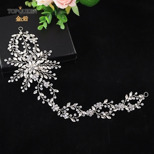 TOPQUEEN HP242 Elegant crystal long Wedding headdress Wedding headband hair vine for Hair Ornaments headpieces tiara jewelry