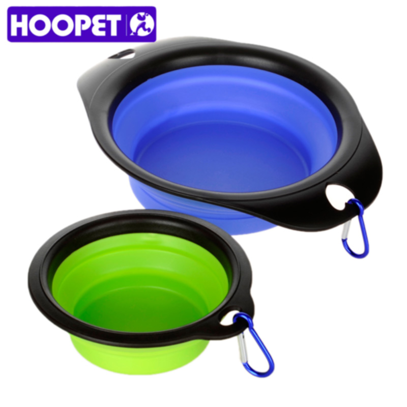 Hoopet Dog Cat Pet Travel Bowl Feeding Water Dish Puppy Food Container Feeder Portable Bowl For Pets