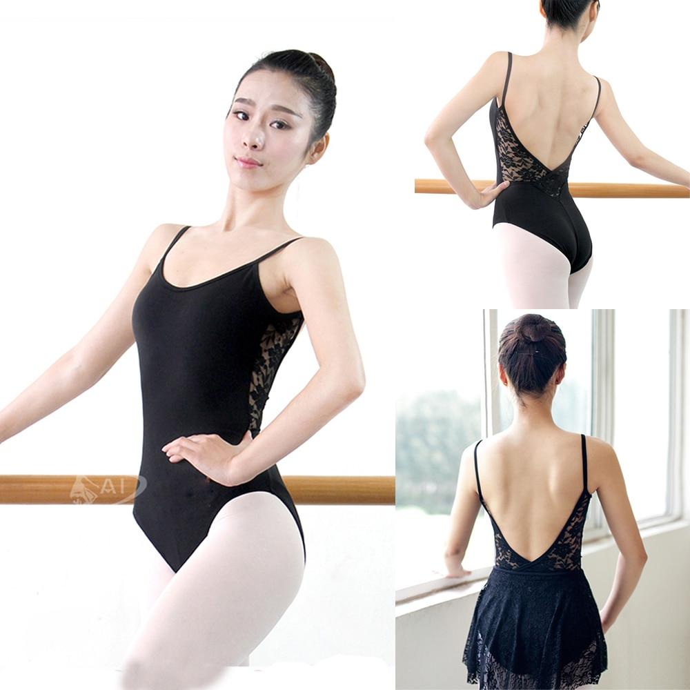 3e7c4d0c7 Ballet Leotard For Women Pure Cotton Black Ballet Dancing Wear Adult ...