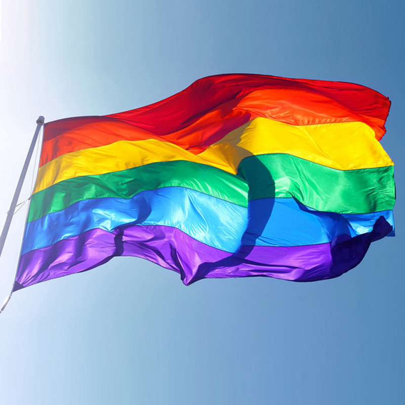 Rainbow Flag 3x5 FT 90x150cm Polyester Lesbian Gay Pride LGBT For Decoration Party Colorful Flags and Banners Drop Shipping