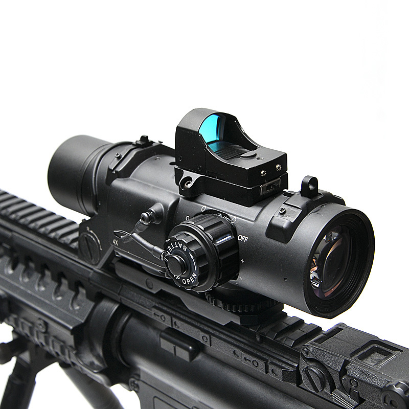 Tactical Rifle Scope DR Quick Staccabile 1X-4X Regolabile Sight Doppio Ruolo di Airsoft Scope Magnificate Scope Per La Caccia
