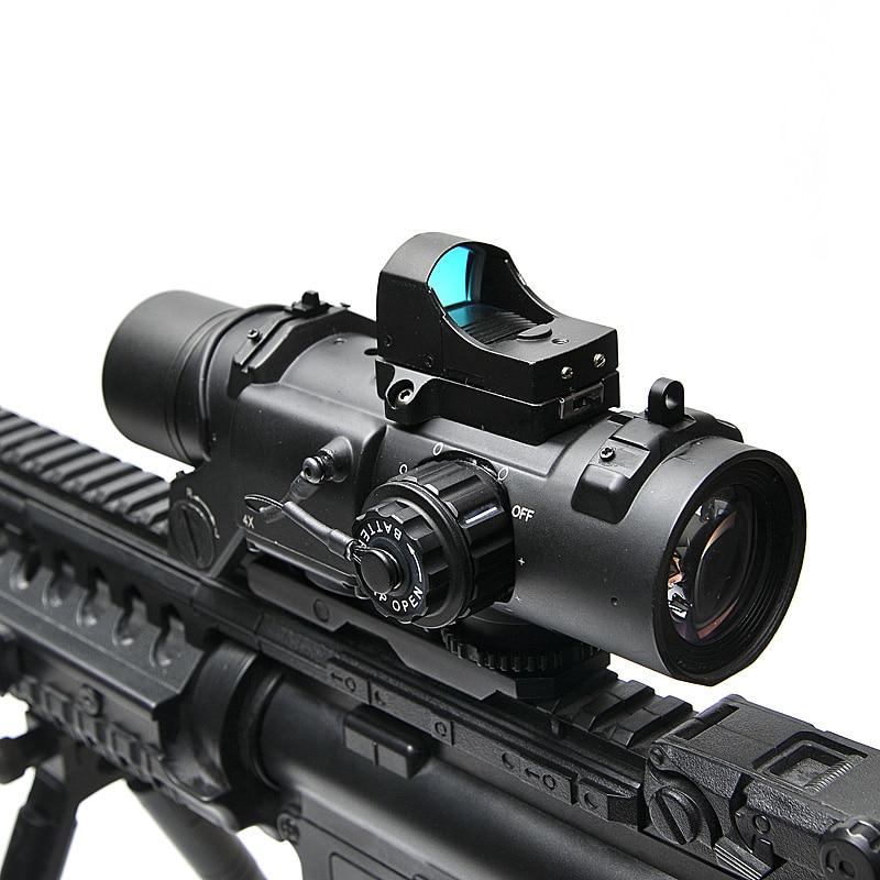 Tactical Rifle Scope DR Quick Staccabile 1X-4X Regolabile Sight Doppio Ruolo di Airsoft Scope Magnificate Scope Per La Caccia