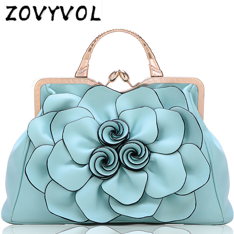 ZOVYVOL   3D flower high quality leather tote bag designer women handbag female large shoulder bag messenger bagsZOVYVOL   3D flower high quality leather tote bag designer women handbag female large shoulder bag messenger bags