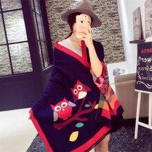 2015 Winter Autumn scarf Knit oversize Cartoon font b tartan b font stole Designer Women Bandana