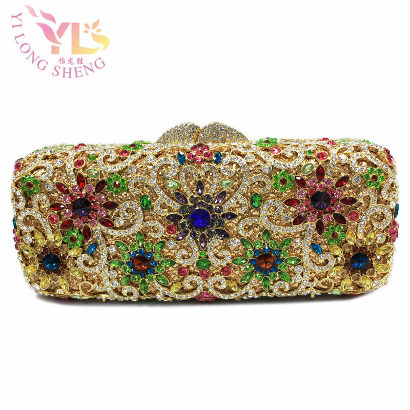 Vintage Diamond Bridal Wedding Purse Multi Pyramid Party Handbags Women Bag Wristlets Clutch Crystal Evening Clutch Bags YLS-F46