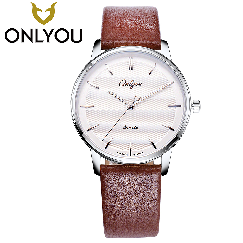ONLYOU Top Brand Luxury Fashion Watch Men Ultra Thin Watches Women Dress Heart-shaped Hour Hand 3Quartz Lovers Automatic Watch onlyou luxury brand fashion watch women men business quartz watch stainless steel lovers wristwatches ladies dress watch 6903