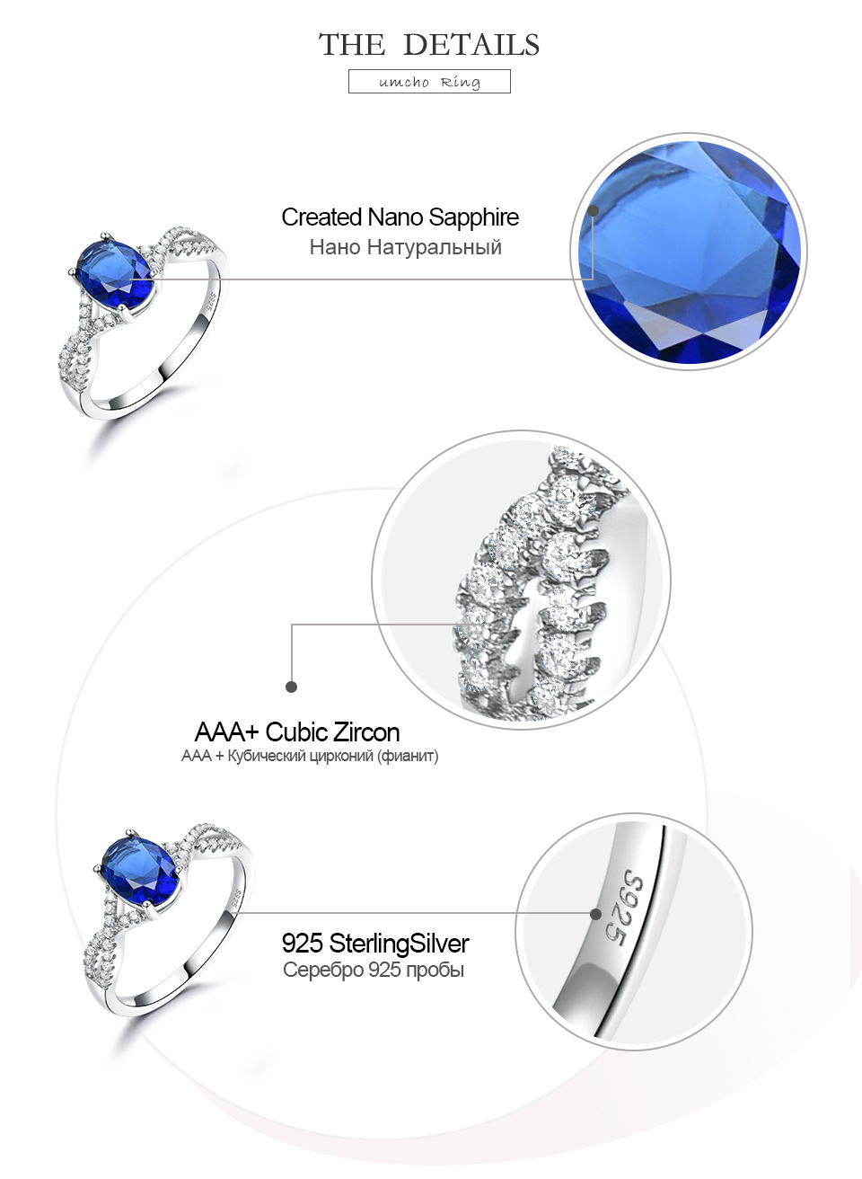 HonyySapphire 925 sterling silver rings for women RUJ099S-1-pc (6)