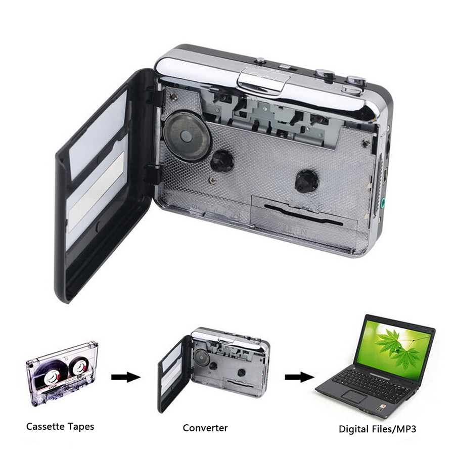 Cassette-Player Convert Laptop Computer Usb-Cassette-To-Mp3-Converter-Capture Music-On-Tape