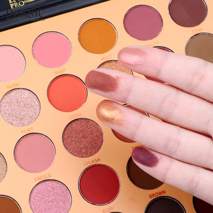 Image 4 - IMAGIC New 35 Color Nude Color Shiny Eye Shadow Palette Color Waterproof Eye Shadow Tray Pigment Pearl Matte Cosmetics