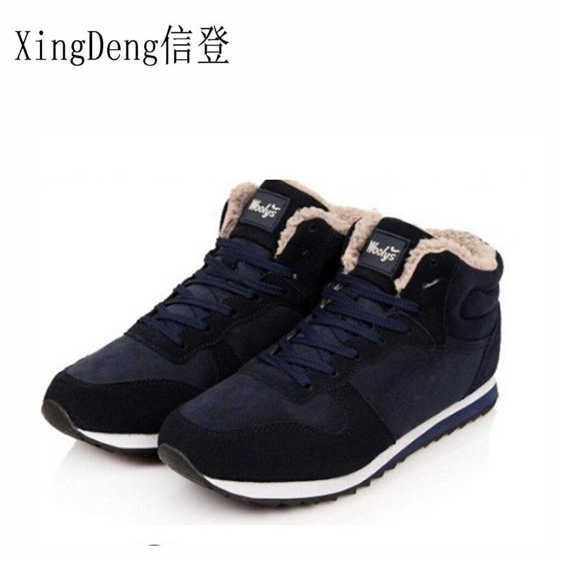 XingDeng military Boots Warm Winter men's Shoes Keep Warm Work Boots Warm Shoes Ankle Boots Outdoor Shoes Size 38-45
