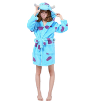 Women Sleepwear Nightgown Kimono Robe Soild Winter Bathrobe Monster Inc Sully Coat Woman Pajamas Shu Velveteen Robe