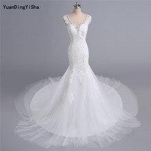 YuanDingYiSha Mermaid Wedding Dresses V-neck Chapel Train