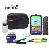 Fiber optic FTTH Tool Kit Fiber Cleaver FC6S mini Optical Power Meter Visual Fault Locator 5MW 15MW Wire stripper miller clamp