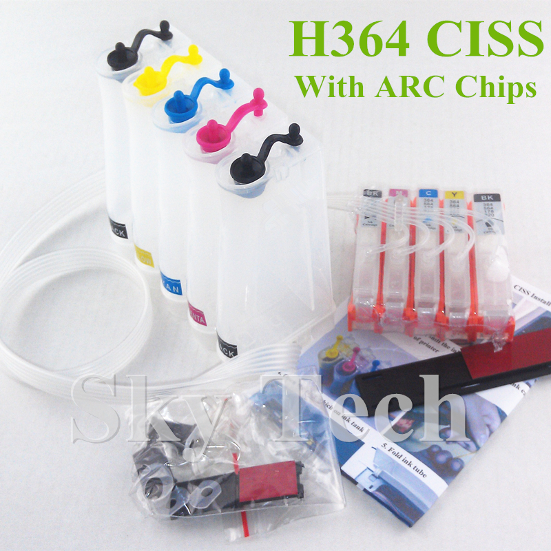 5 Color Empty CISS For HP364XL , HP 364 CISS For HP B8550 B8553 B8558 C6380 C6383 C5324 C5383 D5463 D5468 D7560 . With ARC Chip