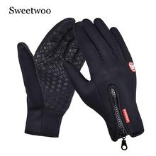 Women Men Ski Gloves Snowboard Winter Motorcycle Riding Waterproof Snow Windstopper Camping Leisure Mittens New