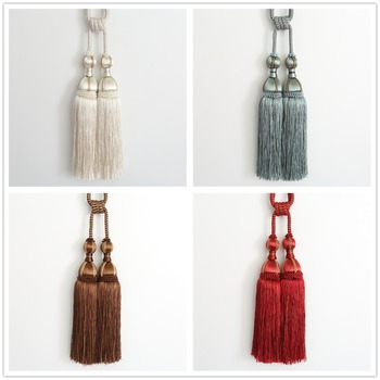 1 pair luxury high grade curtain tieback European double ball hanging tied ball decoration tassel accessories tie tape back N120