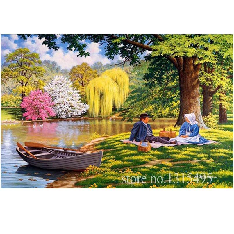 Diy kit bordado con cuentas conjunto pintura mosaico de picnic - Artes, artesanía y costura