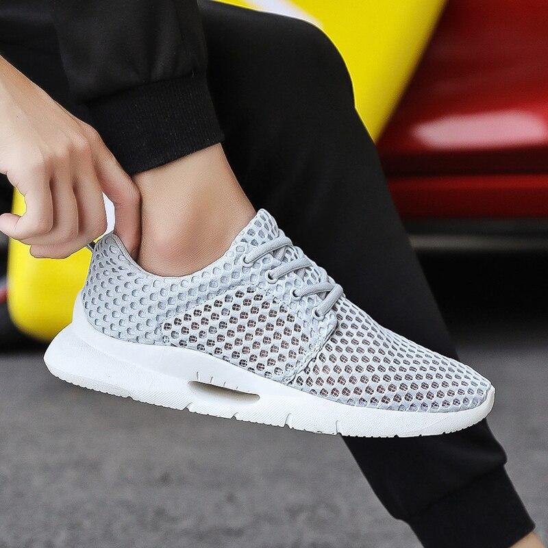 MAISMODA Sapatos Casuais Masculinos Respirável Sapatos de Malha dos homens Tenis masculino Sapatos Zapatos Hombre sapatos Clássicos Sneakers YL441