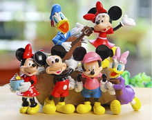 6pcs/lot Mickey Figures Action Toy PVC Minnie Mouse Donald Duck Cartoon Doll Daisy 8.5cm