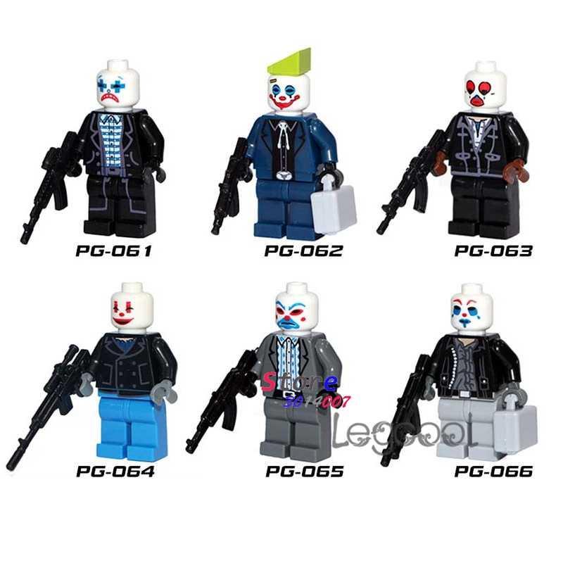 1 Buah Model Blok Bangunan Aksi Superhero Joker Mainan untuk Anak-anak Hadiah Marvel Avengers Komik Koleksi Film