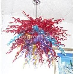 Turecki styl dostosować nowy projekt LED żarówki źródło światła dekoracyjne nowoczesne kolorowe szklana wisząca żyrandol z abażurem