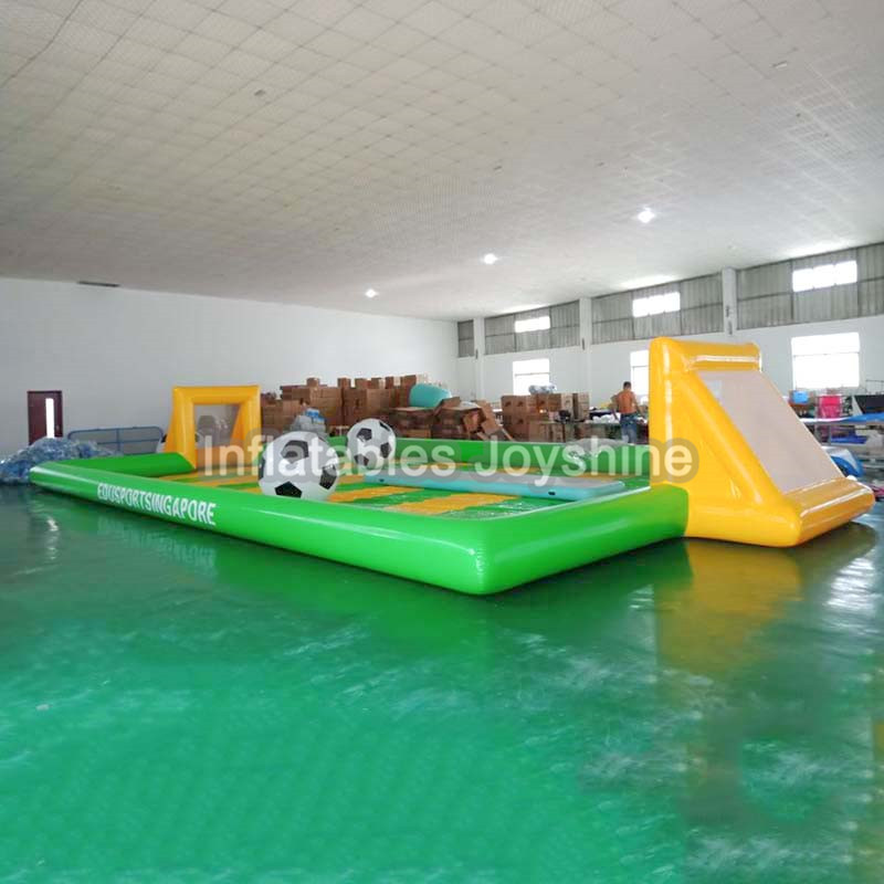 Outdoor cheap adult inflatable football soap court game,pvc inflatable soccer training dummy